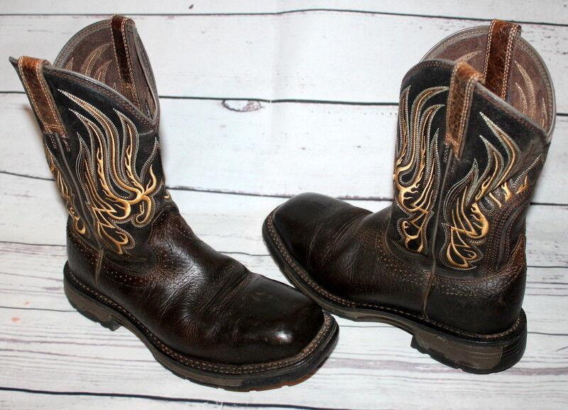 Ariat workhog Impermeable Comp Toe Met Guard trabajo botas para hombre 8 D 10010892 Marrón