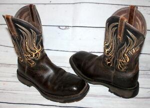 4187fa9443a Details about Ariat Workhog Waterproof Comp Toe Met Guard Work Men's Boots  8 D 10010892 Brown