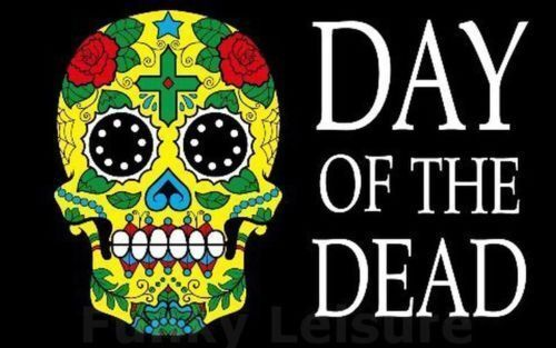 Day of the Dead 5/'x3/' Flag Skull Pirate Halloween Decoration Festival