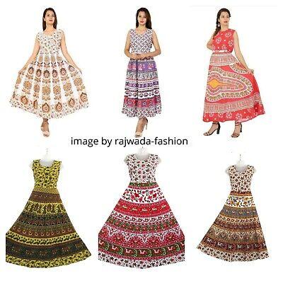 Wholesale Lot 10 PC Indian Women Maxi Long Dress Hippie Cotton Gypsy Kurtis