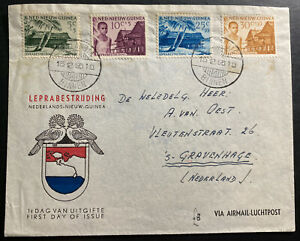 1956-Binnen-Dutch-New-Guinea-First-Day-Cover-FDC-To-The-Hague-Netherlands