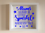 IKEA RIBBA Box Frame Personalised Vinyl Wall Art Quote Mothers Day Mums Sparkle