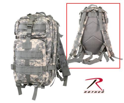 2288 ACU Digital Camo Military Style Medium Transport MOLLE Assault Backpack