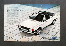 [GCG] L488 - Advertising Pubblicità -1984- FORD ESCORT , CONVERTIBLE BY FORD