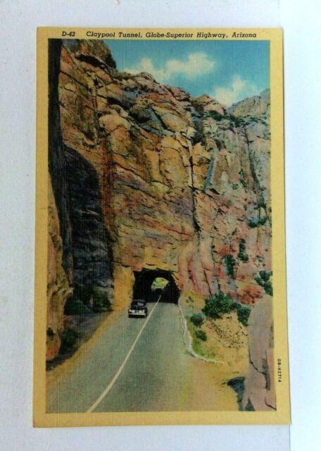 Arizona Claypool Tunnel Globe Superior Highway / HipPostcard