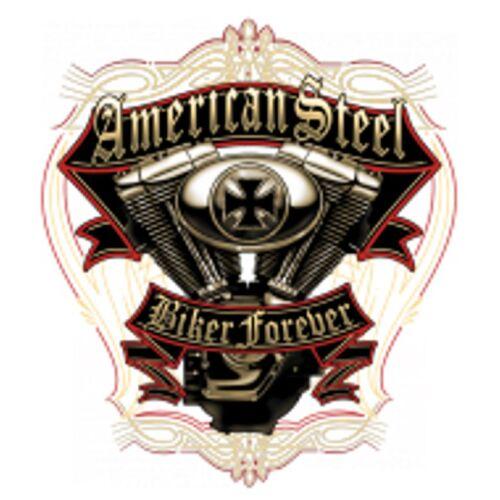 Chopper Sweat Shirt en negro con un motorista- /& Old schoolmotiv modelo American