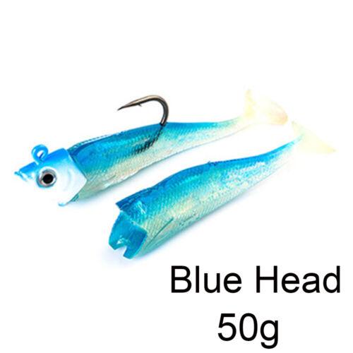 Shad sea Crank fly fishing Soft  bass Bait worm  Minnow Lure Lead Head hook