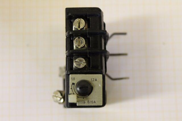 Überstrom-Relais thermisch TSA 10 A 660V~ Romania COD 3670M 1,2-1,8 A #AS-C01