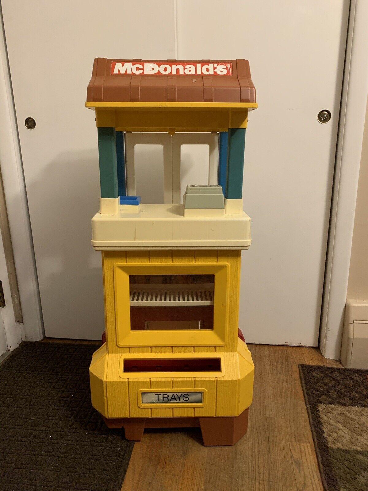Vintage 1989 Fisher Price McDonalds Drive Drive Drive Thru Playset