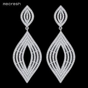 Details About Mecresh Cubic Zirconia Bridal Dangle Drop Earrings Wedding For Women