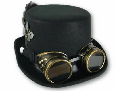 Steampunk Hat Victorian Leather Standard HIGH Top Hat with Belt