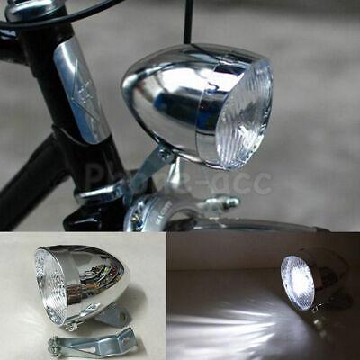 Classic Vintage 3LEDs Bike Headlight Bicycle Retro Head Light Front Fog Lamp USA