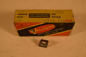 Surplus-NOS-Valenite-CPGB-322-VC7-Inserts-Lot-of-5-Pieces