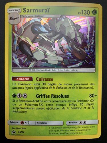 Carte Pokemon SARMURAÏ SM52 PROMO Black Star Soleil et Lune Holo Française NEUF