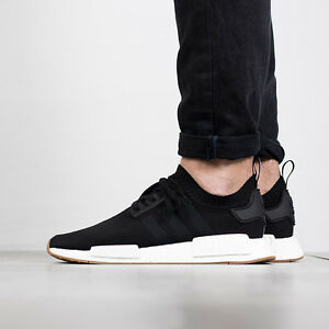 Adidas NMD R1 PK size 13.5. Core Black Gum White. BY1887. Primeknit. ultra boost | eBay