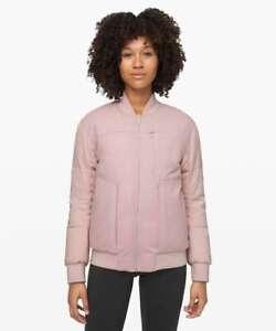 Lululemon Women's Roam Far Wool Bomber POIK Porcelain Pink