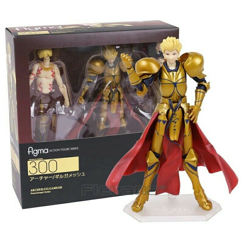 FATE  GRAND ORDER- FIGURE GILGAMESH 15 CM ANIME FIGURE ARCHER FIGMA BOX
