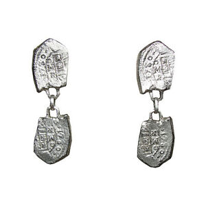 Image Is Loading Hattie Carnegie Spanish Armada Dangle Coin Earrings