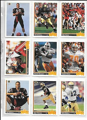 Cheap Sale 1991 Football Rookie Lot Easy To Repair Sports Mem, Cards & Fan Shop