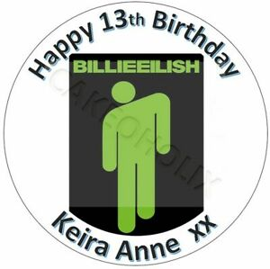 Billie-Eilish-Edible-Cake-Topper-With-Your-Own-Personalised-Message