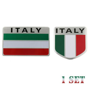 Car//Truck Decor Sticker Decal Italy Italian Shield Flag 3D Emblem Badge Logo