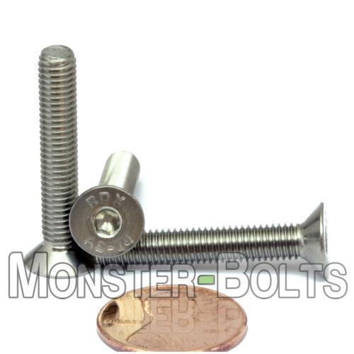 10 M5 x 30mm  Stainless Steel Flat Head Socket Cap Screws A2 Coarse 5mm x 0.80