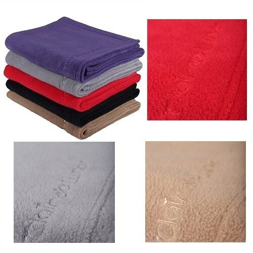 Clair De Lune Fleece Blanket Pram Moses Red Sand Grey Pink or Blue REDUCED NEW