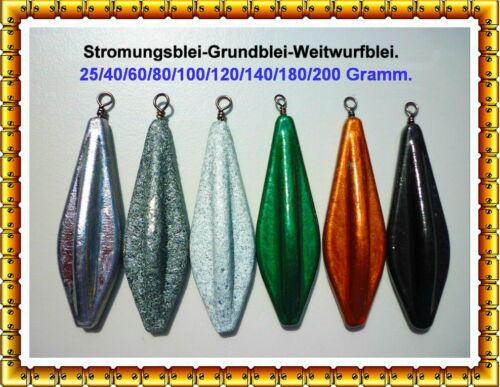 Brandungsblei,Strömungsblei,Grundblei Blei-25//40//60//80//100//120//140//180//200 Gramm