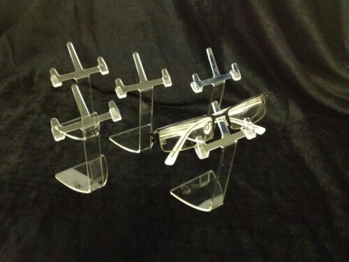 CLEAR ACRYLIC SUNGLASSES /& SPECTACLE LARGE DISPLAY STANDS SET OF 5 NEW