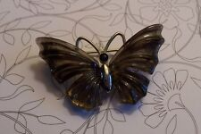 VINTAGE Butterfly Moth Insect Figural ST Brooch Pin 1 3/4""