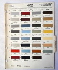 1981 FORD MERCURY LINCOLN AND TRUCK PPG   COLOR PAINT CHIP CHART ALL  MODELS