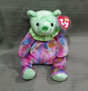118b860ca70 Image is loading Ty-Beanie-Baby-August-the-Birthday-Bear-MWMT-