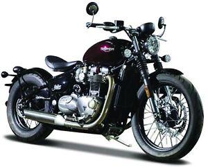 Triumph-Bonneville-Bobber-Bburago-Motorrad-Modell-1-18
