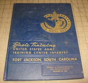 1960 US ARMY FORT JACKSON, SC Basic Training Yearbook - Co D 15th Battalion