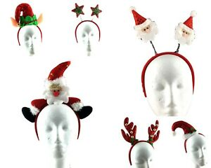 Christmas-Headband-Adult-Kids-Xmas-Party-Hat-Costume-Novelty-Hair-Clip