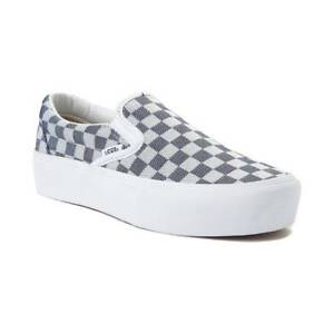 82c871d6d9 Image is loading NEW-Vans-Classic-Slip-On-PLATFORM-Chex-Checkerboard-