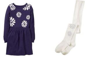 Gymboree-Girls-Snowflake-Sweater-Dress-amp-Tights-Set-Size-10-NEW-52-90