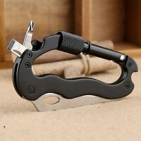 Survival Camping Multifunction Folding Knife Pocket Clip with Serrated Blade