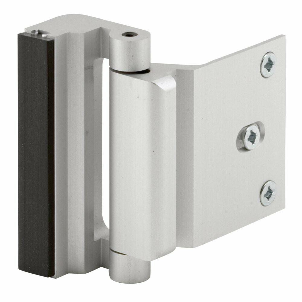 Prime Line U 10827 Jamb Entry Door Blocker, Satin Nickel