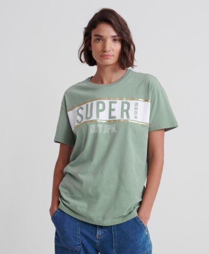 Haut Femme Superdry Femme Superdry Panneau Portland T-Shirt