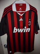 ADIDA S Ronaldinho #80 Bwin AC Milan Home Football Shirt Soccer Jersey Size XL