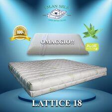 Materasso lattice SINGOLO 80x190 Aloe Vera + 1 guanciale in lattice OMAGGIO!!!