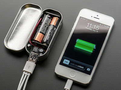 Adafruit MintyBoost USB Charger Kit v3.0 For iPhones Ipods - The Tin Is Included