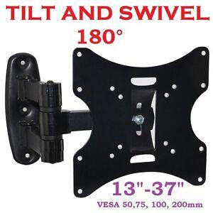 3D-LCD-TV-SWIVEL-TILT-WALL-MOUNT-BRACKET-15-17-19-22-26-32-37-VESA-75-100-200mm