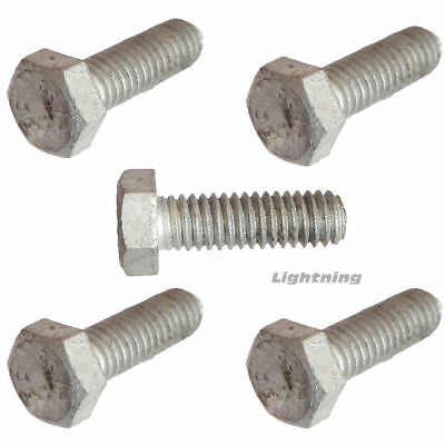 "1//4-20 x 3//4/"" Hex Cap Screw Hot Dipped Galvanized Hex Bolt Full Thread Qty 100"