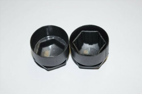 AUDI A1 A2 A3 A4 A5 A6 A7 TT 17mm BOLT WHEEL NUT COVERS LOCKING CAPS DARK GREY 1