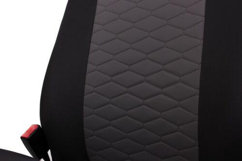 Sitzbezüge Sitzbezug Schonbezüge für Honda Jazz Schwarz Modern MP-1 Komplettset