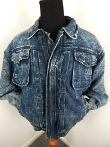 Vintage-Levis-Denim-Jacket-Sherpa-Lined-Retro-80s-Acid-Wash-Men-L-Large