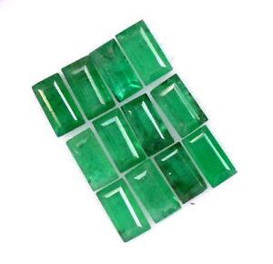 1-33-Cts-Natural-Emerald-Baguette-Cut-4x2-mm-Lot-12-Pcs-Untreated-Loose-Gemstone