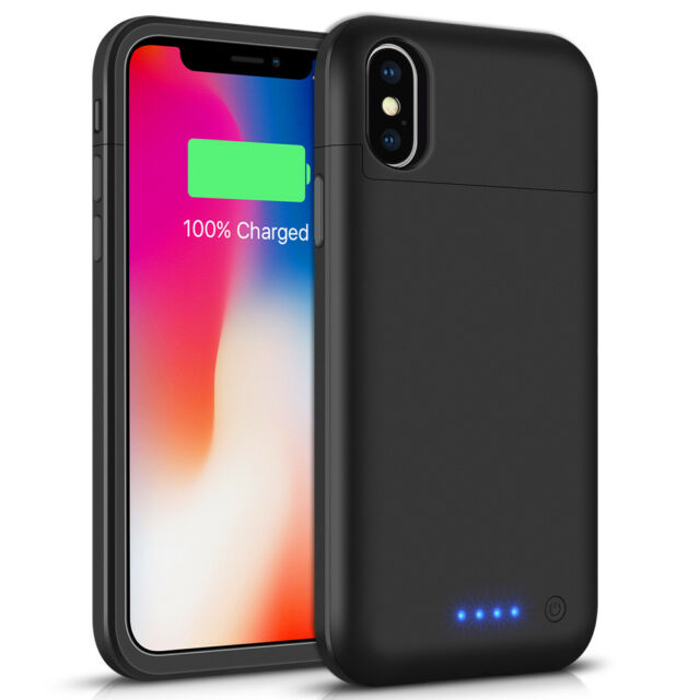 F iPhone X Power bank External Power Charging Battery Rechargeable Case 5200mAh